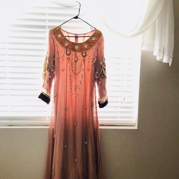 a3af8f64e0 Dresses | Rose And Velvet Beaded Pakistani Dress | Poshmark